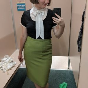 Modcloth olive green pencil skirt